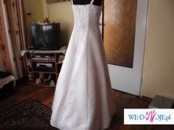 Suknia ślubna jednoczęściowa w kształcie litery A