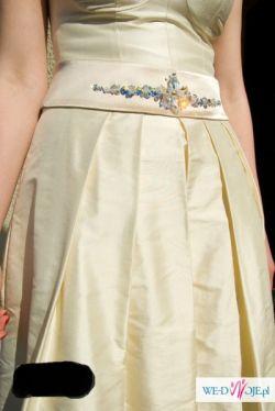 suknia ślubna jedwabna