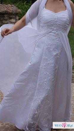 """suknia ślubna """"Józefinka"""" rozm. 40/42 biała"""