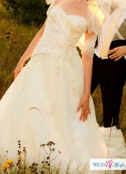 Suknia ślubna Justin Alexander 8535/8546 rozmiar 38