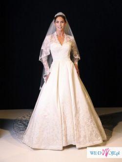 Suknia ślubna Justin Alexander replika Księżnej Kate