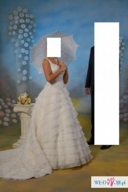 suknia ślubna JUSTIN ALEXANDER roz. 36 + dodatki
