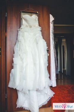 Suknia ślubna JUSTIN ALEXANDER rozm.36/38 + Gratisy