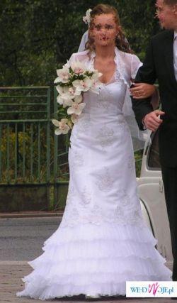 8cdfb1e9a8 Suknia ślubna Karina+bolerko+welon TANIO! - Suknie ślubne ...