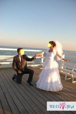 Suknia ślubna klasyczna biała+dodatki