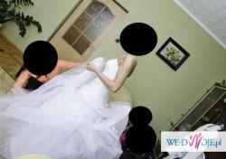 Suknia ślubna, kolor biały,rozm.38