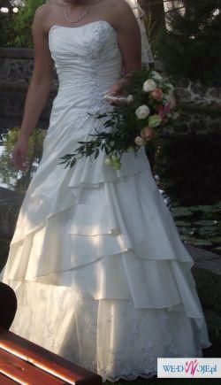 Suknia ślubna - kolor delikatny ecru