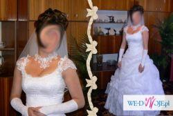 Suknia ślubna - koronka i kryształki!