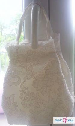 Suknia ślubna - koronka - rozmiar 40
