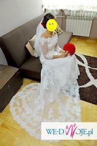 Suknia ślubna koronkowa 2014