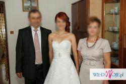 Suknia ślubna koronkowa koronka bie salon Madonna r.34/36 XS/S