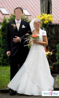 Suknia ślubna koronkowa (może być dla ciężarnej)