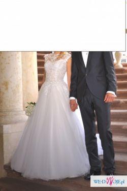 suknia slubna koronkowa princeska