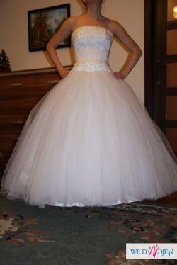 Suknia ślubna, księżniczka, cyrkonie