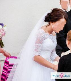 Suknia ślubna księżniczka princessa biała 38 wzrost 164