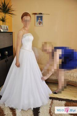 Suknia ślubna , księżniczka , princessa , jak nowa , biała