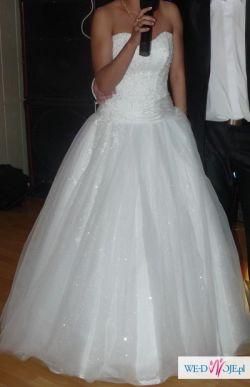 Suknia ślubna KSIĘŻNICZKA r.36 + welon HIT 2011!!!