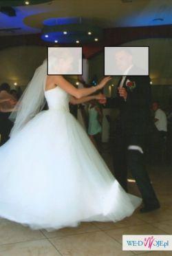 Suknia Ślubna Księżniczka rozm 36, 38 tanio
