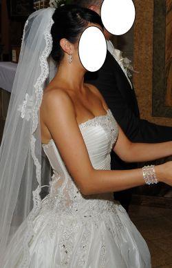 suknia ślubna księżniczka sposa kolor ecru