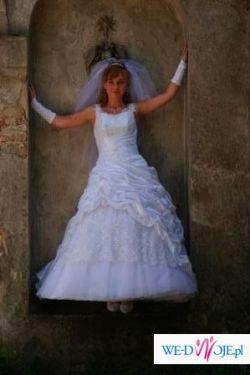 Suknia ślubna księzniczka z dodatkami