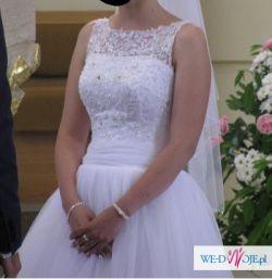 Suknia ślubna La Mariette princessa 34 36