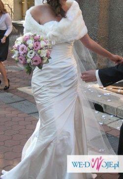 suknia ślubna La Sposa, model Fanal, MADONNA , rozm 36,38 Śmietanka