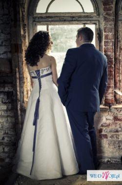 suknia ślubna Ladybird 34050 biała, fiolet