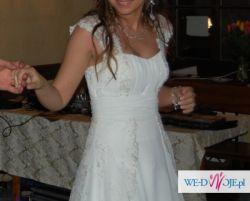 Suknia ślubna - lekka i delikatna + dodatki