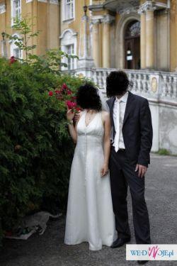 suknia ślubna lekka i zwiewna i tania