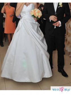 suknia ślubna, linia A, dla wysokiej