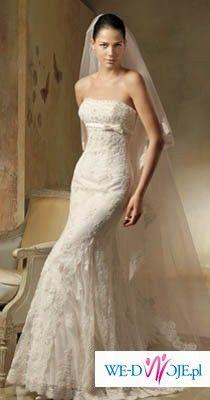 Suknia ślubna LORNA + dodatki (welon, dopinane ramiączka, buty)