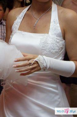 Suknia ślubna Madame Zaręba,bolerko.rękawiczki