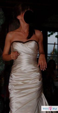 suknia ślubna Madonna model White one 411 kolor szampan