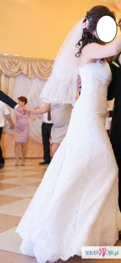 Suknia ślubna madonna San Patrick model Bahamas z koronki 38 M