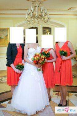 suknia slubna maxima tiul kwiaty koronka 34 36 38
