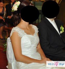 Suknia ślubna MEGGIE MSMODA rozmiar 36-38 po czyszczeniu stan IDEALNY