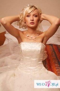 """Suknia Ślubna model """"bali"""" r.36 + dodatki!!! Polecam"""