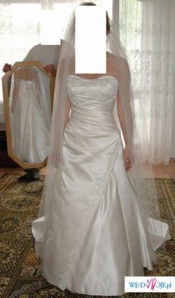 Suknia Ślubna - model CRISTAL /firma GALA, 160cm