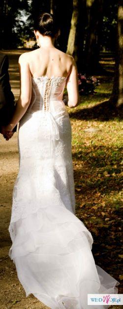 Suknia ślubna MS Moda koronkowa