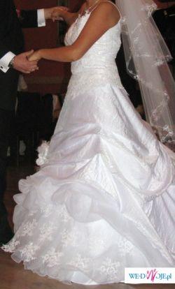 Suknia ślubna Ms Moda R42 Wydłużony Gorset Suknie ślubne