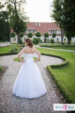 Suknia ślubna MS MODE 2012, biel 36/38 na sprzedaż! +GRATIS