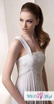 suknia ślubna muslinowa,plisowana+welon+szal+buty