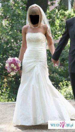 Suknia ślubna na wzór Benjamin Robert 930, GRATIS WELON i HALKA