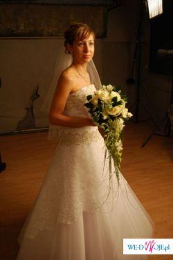 Suknia ślubna na wzór Manhattan ze Sposy + bolerko