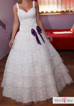 Suknia ślubna na wzór sukni francuskich- szyta na zamówienie- niepowtarzalna!