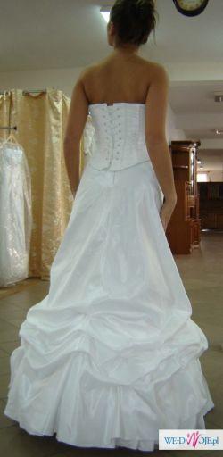 Suknia ślubna oryginalna Ms Moda Brygide rozm.36/38 biała