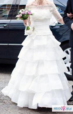Suknia ślubna Papilio 1125 + halka,welon,buty