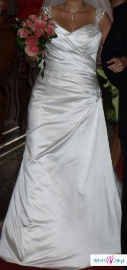 Suknia Ślubna perłowa biel 38