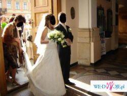 suknia ślubna, piękna, cała z koronki