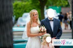 Suknia Ślubna PIĘKNA !!! ŁABĘDZIE PIÓRA, PIÓRKA!!! unikatowa !